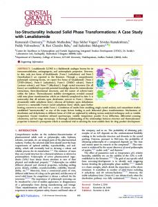 iso-structurality induced solid phase ... - ACS Publications