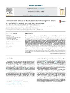 Isoconversional kinetics of thermal oxidation of