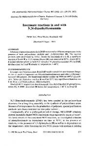 Isocyanate reactions in and with N,N ... - Wiley Online Library