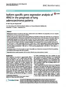 Isoform specific gene expression analysis of ... - BMC Bioinformatics