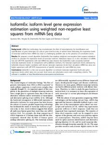 IsoformEx: isoform level gene expression estimation ... - Springer Link