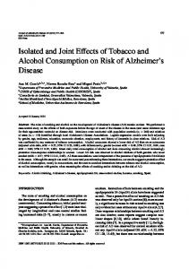 Isolated and Joint Effects of Tobacco and Alcohol