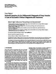 Isolated Cataplexy in the Differential Diagnosis of Drop Attacks: A ...