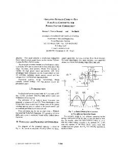 ISOLATED FLYBACK-CURRENT-FED PUSH-PULL CONVERTER ...