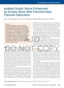 Isolated Sciatic Nerve Entrapment by Ectopic Bone