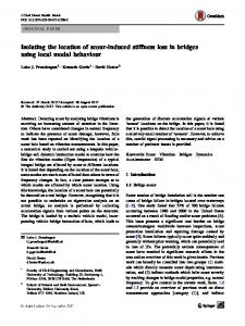 Isolating the location of scour-induced stiffness loss in ... - CyberLeninka