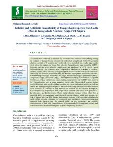 Isolation and Antibiotic Susceptibility of Campylobacter Species from ...