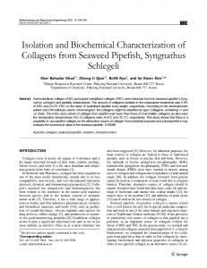 Isolation and Biochemical Characterization of ... - Springer Link