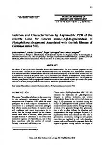 Isolation and Characterization by Asymmetric PCR of the ... - SciELO