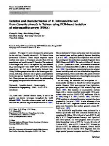 Isolation and characterization of 11 microsatellite loci from Camellia ...