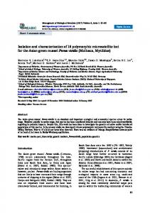 Isolation and characterization of 16 polymorphic microsatellite ... - reabic