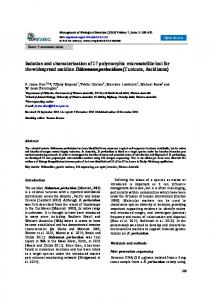 Isolation and characterization of 17 polymorphic microsatellite ... - reabic