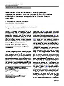 Isolation and characterization of 23 novel polymorphic ... - Springer Link
