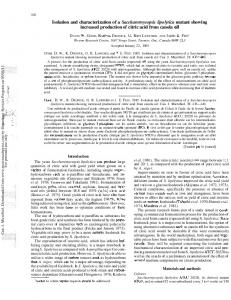 Isolation and characterization of a ...