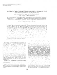 isolation and characterization of a bovine visceral ... - PubAg - USDA