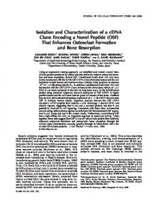 Isolation and characterization of a cDNA clone encoding a novel
