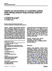 Isolation and characterization of a Lecanicillium ...