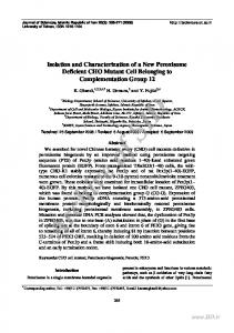 Isolation and Characterization of a New Peroxisome ...