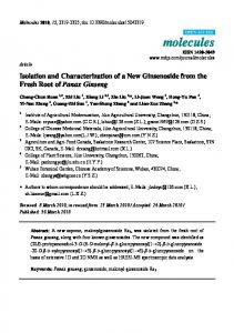 Isolation and Characterization of a New ... - Semantic Scholar