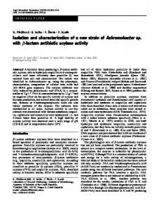 Isolation and characterization of a new strain of Achromobacter sp ...