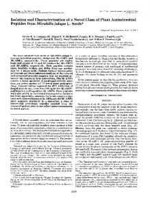 Isolation and Characterization of a Novel Class of Plant Antimicrobial ...