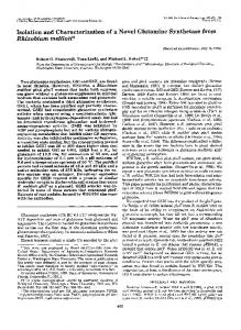Isolation and Characterization of a Novel Glutamine Synthetase from ...