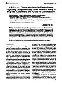 Isolation and Characterization of a Phenanthrene ... - CiteSeerX