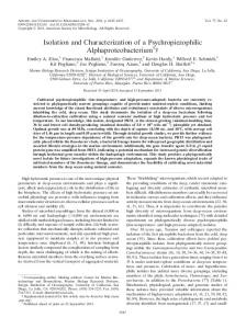 Isolation and Characterization of a Psychropiezophilic ...