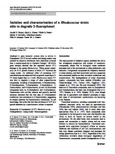 Isolation and characterization of a Rhodococcus strain able to ...