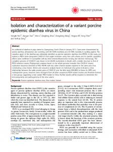 Isolation and characterization of a variant porcine ... - BioMedSearch