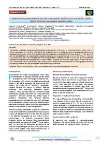 Isolation and characterization of bioactive compounds for Bacillus ...