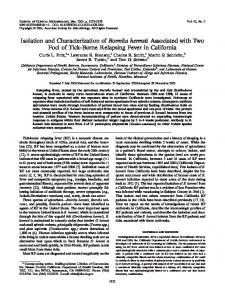 Isolation and Characterization of Borrelia hermsii Associated with Two ...