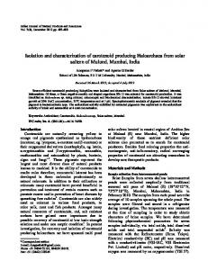 Isolation and characterization of carotenoid producing ... - NOPR
