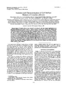 Isolation and characterization of cell surface mutants of Candida ...