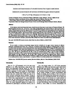 Isolation and characterization of culturable bacteria from ... - SciELO
