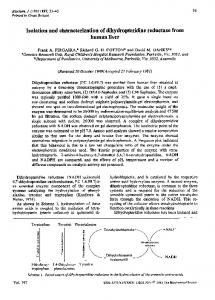 Isolation and characterization of dihydropteridine reductase from ...