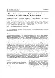 Isolation and characterization of endophytic bacteria from soybean ...