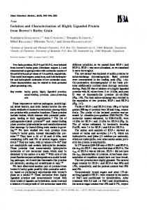 Isolation and Characterization of Highly Liganded ... - Semantic Scholar