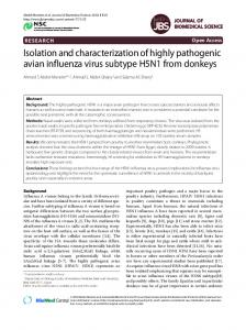 Isolation and characterization of highly pathogenic ... - Springer Link