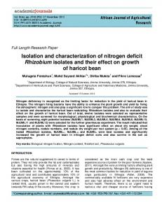 Isolation and characterization of nitrogen deficit ... - CiteSeerX