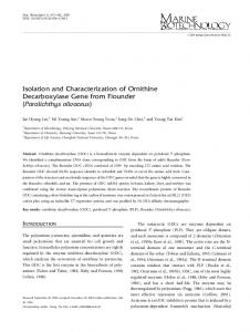 Isolation and Characterization of Ornithine ... - Springer Link