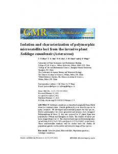 Isolation and characterization of polymorphic ... - FUNPEC-RP