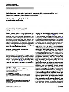 Isolation and characterization of polymorphic microsatellite loci from ...