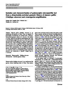 Isolation and characterization of polymorphic microsatellite loci from a ...