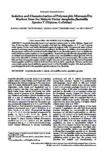 Isolation and Characterization of Polymorphic Microsatellite Markers ...