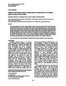 Isolation and characterization of salt-tolerant rhizobia native to the