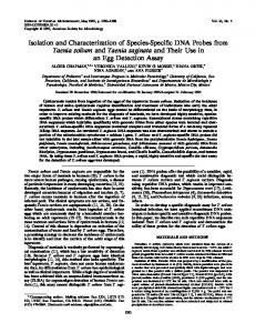 Isolation and Characterization of Species-Specific DNA Probes from ...