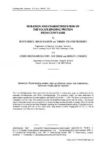 Isolation and characterization of the folate-binding ... - Springer Link