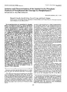 Isolation and Characterization of the Inositol Cyclic Phosphate ...