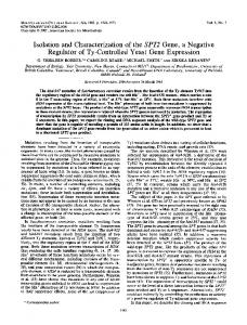 Isolation and Characterization of the SPT2 Gene, a Negative ...